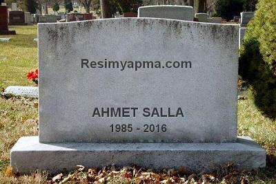 Mezar Taşına Yazı Yazma