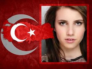 Türkiye Bayrağı İle Fotoğraf