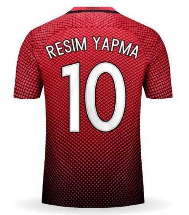 Türkiye Formasına İsim Yazma