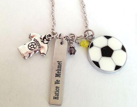 Futbol Toplu Kolye