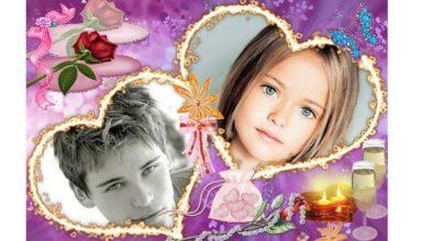 Kalpli Çift Kare Aşk Fotoğrafı
