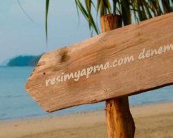 Plaj Tahtası Üzerine Yazı