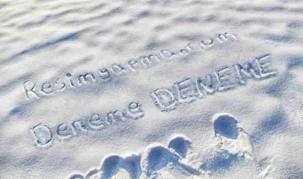 Kar Üzerine Yazı Yaz