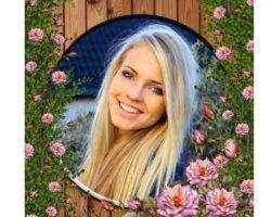 Çiçekli Fotoğraf Çerçevesi
