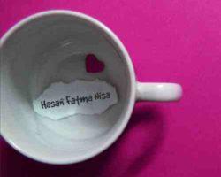 Kahve Fincanı İçine Not Yazın