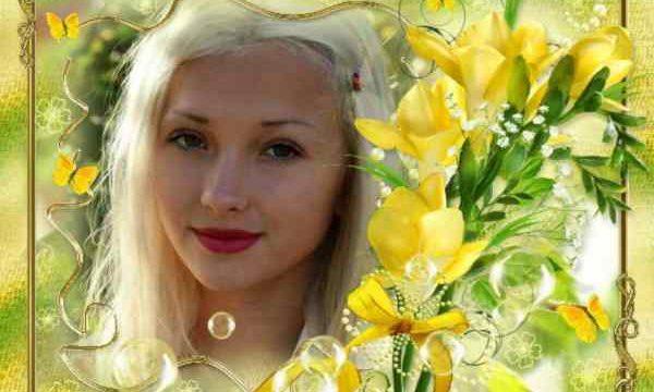 Sarı Çiçek Çerçeveli Resim Oluştur