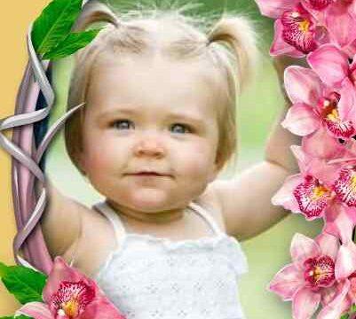 Pembe Çiçekli Çerçeve
