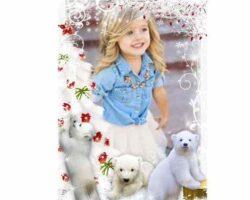 Beyaz Küçük Ayılar İle Resim