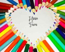 Renkli Kalemlerle Yapılmış Kalp
