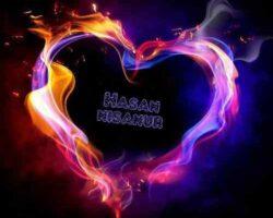 Yanan Renkli Kalp