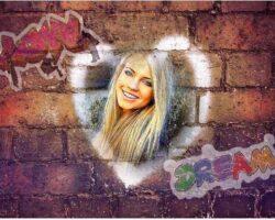 Duvarda Graffiti Kalp
