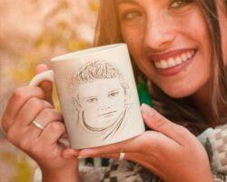 Kahve Fincanı Üzerine Resim