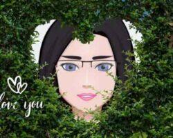 Kalp Şeklinde Yeşil Yaprak Çerçevesi