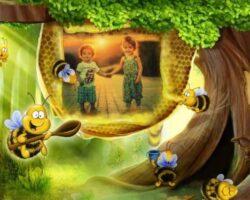 Arı İle Fotoğraf Çerçevesi
